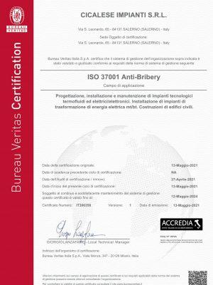 Certificate IT306358 # Item 1-701VCF9