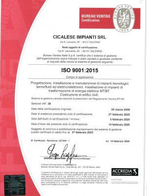 Cicalese Impianti Srl_ISO 9001-2020