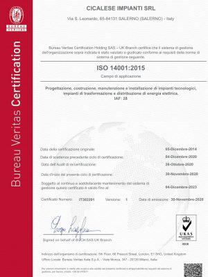 Cicalese Impianti srl_ISO 14001_2015
