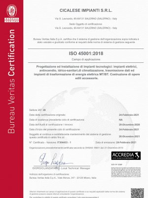 Cicalese Impianti srl_ISO 45001_2018